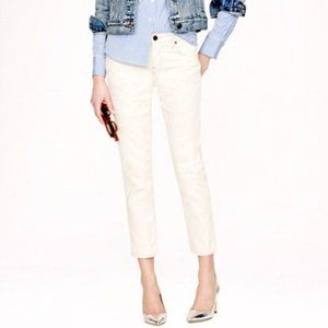 J. Crew Toothpick Ankle Ivory Jeans